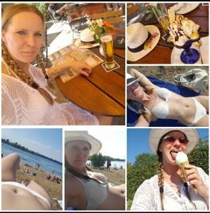 Ein perfekter Sommertag mit einem leckeren kalten Uri, Eisbecher und viel Sonnenschein. Pures Sommerglück. Im Lieblingsfreisitz. - Nadine