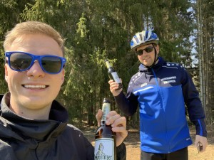 Fahrradtour mit Sportgetränk! Gute Freundschaft. Zeulenroda. - Elias