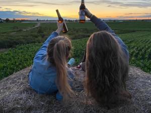 Schöner Abendausklang mit den besten Freunden und dazu ein kühles Bier! Freundschaft, Bier, das Lebenselixier, Spaß. - Julia
