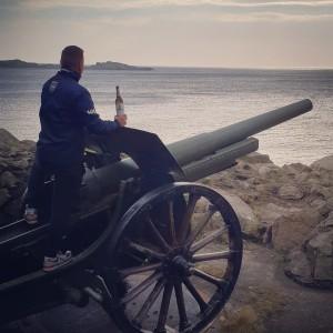 Den Tag in Korshamn (Norwegen) ausklingen lassen. Urlaubs-Erinnerung. Norwegen. - Marius