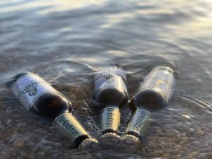 Erstes seegekühltes Bier dieses Jahr! :). Sommer. Hainer See. - Tom