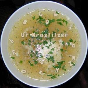 Feinherbe Buchstabensuppe - Ur-Krostitzer